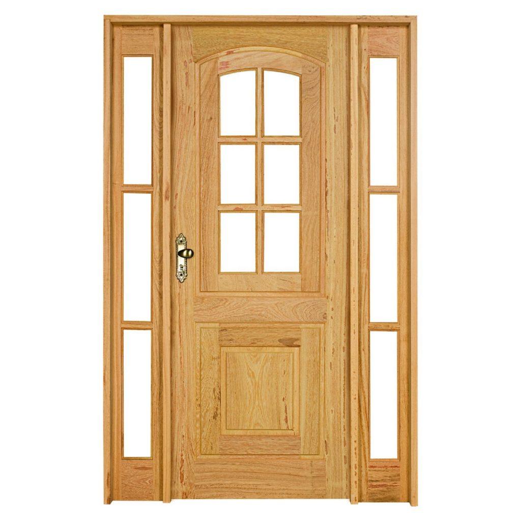 porta de madeira com vidro para sala simples