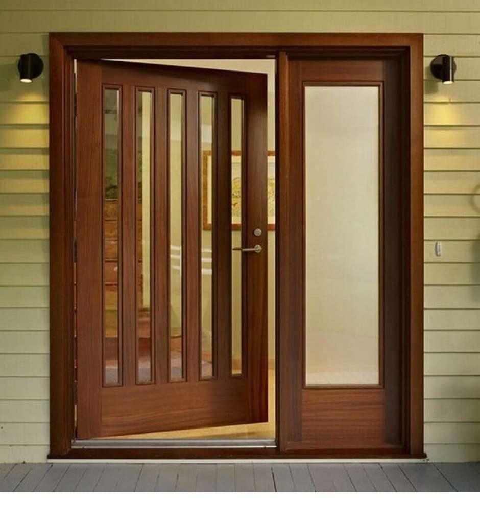 porta de madeira grande alta