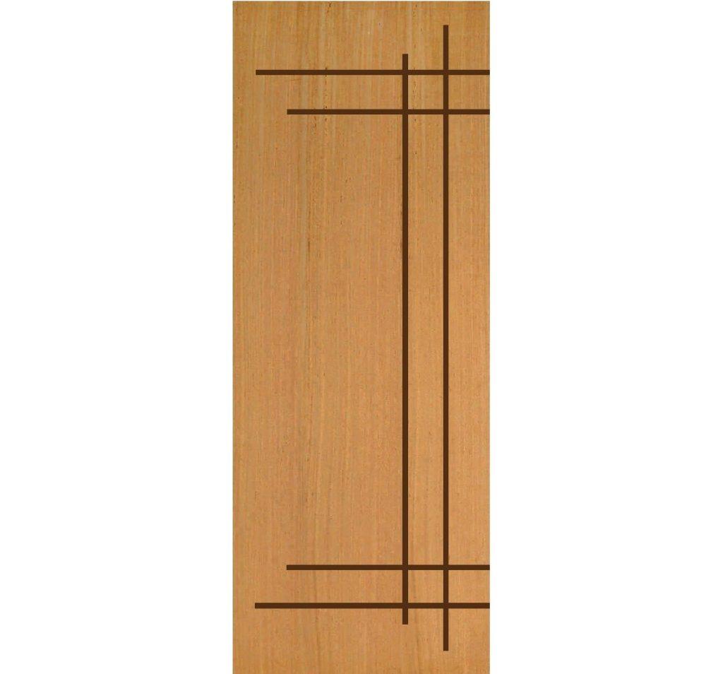 porta de madeira interna simples