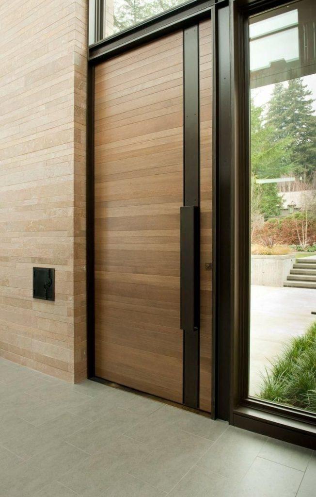 porta de madeira para entrada