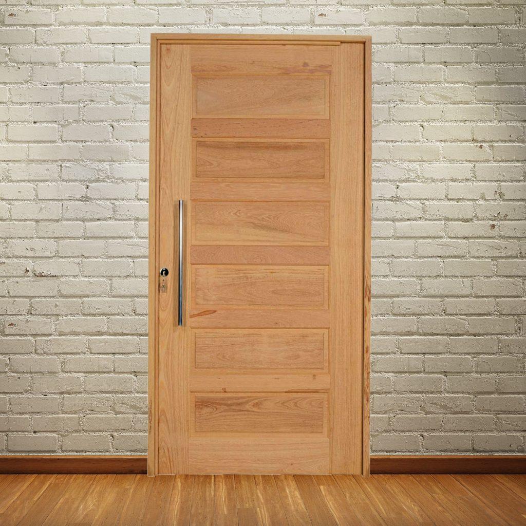 porta de madeira simples interna