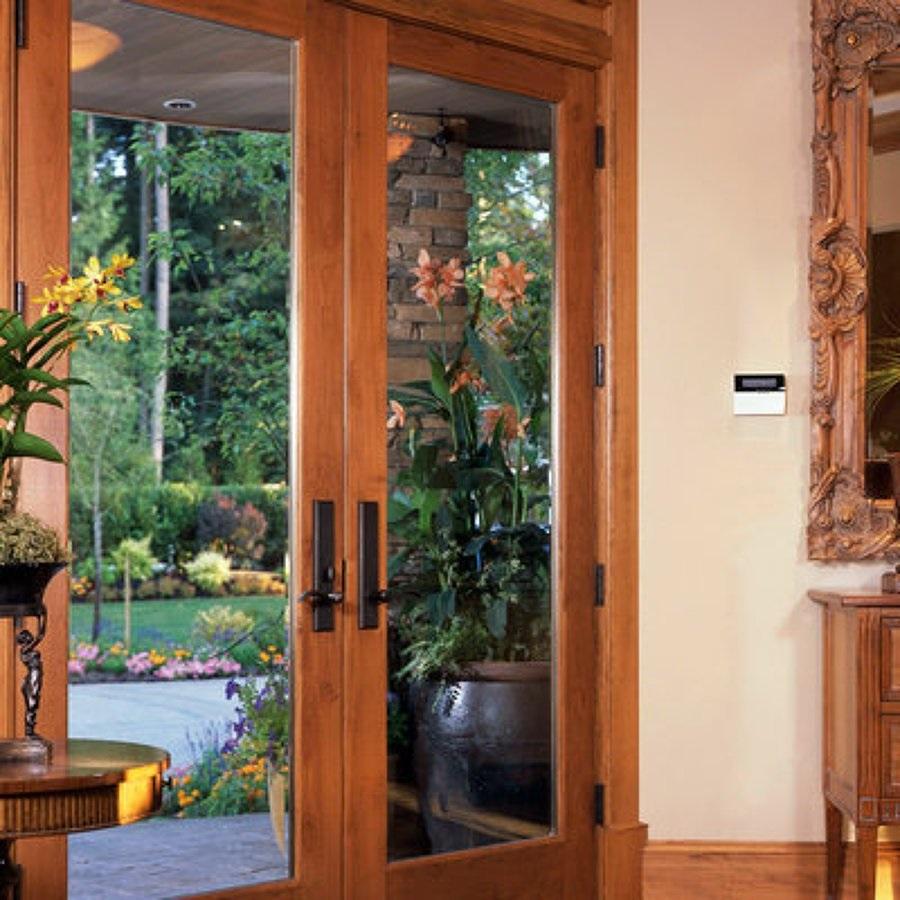 porta de maeira com vidro para sala
