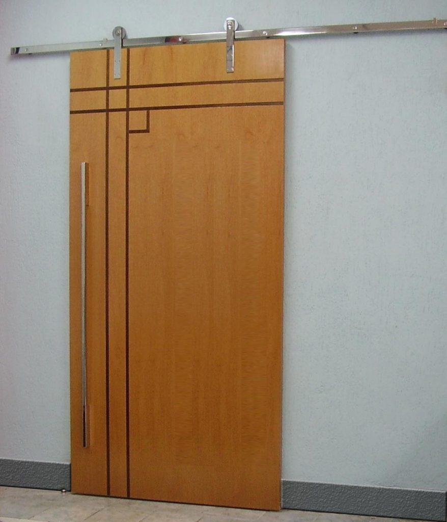 porta interna de madeira de correr