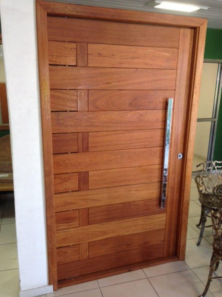 portas de madeira maciça modernas