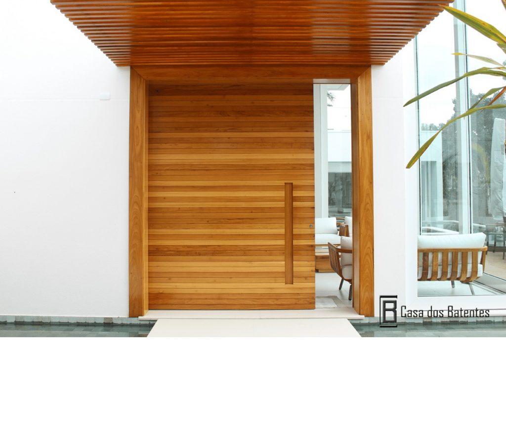 portas de madeira modernas