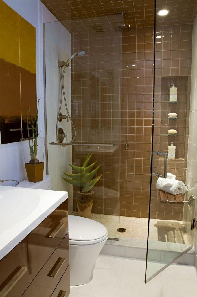 banheiro pequeno com box