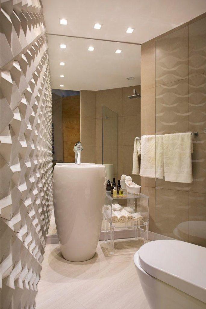 banheiro pequeno decorado com gesso