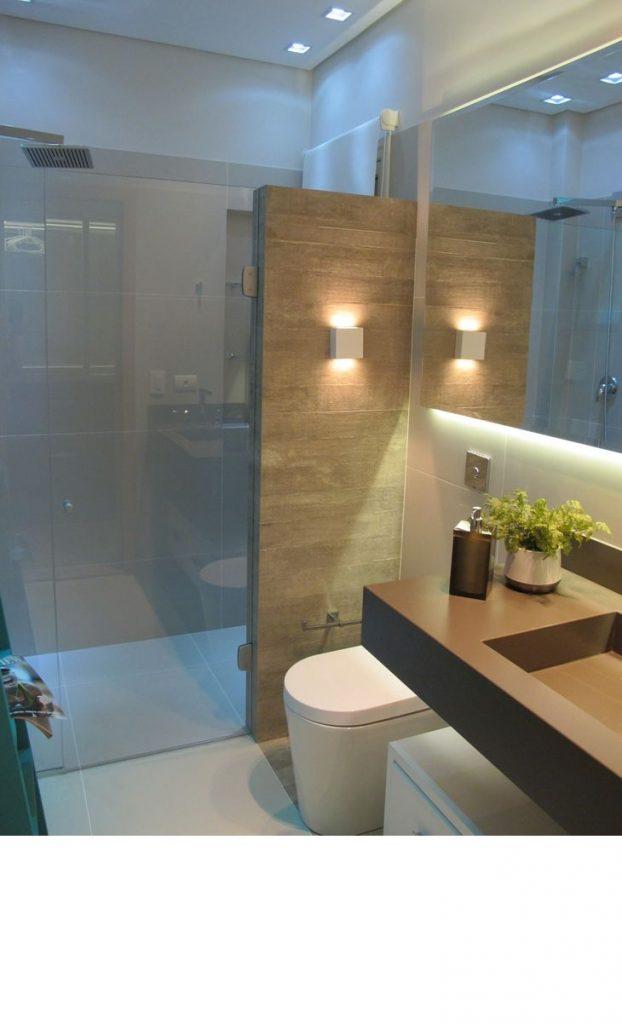 banheiros modernos e pequenos