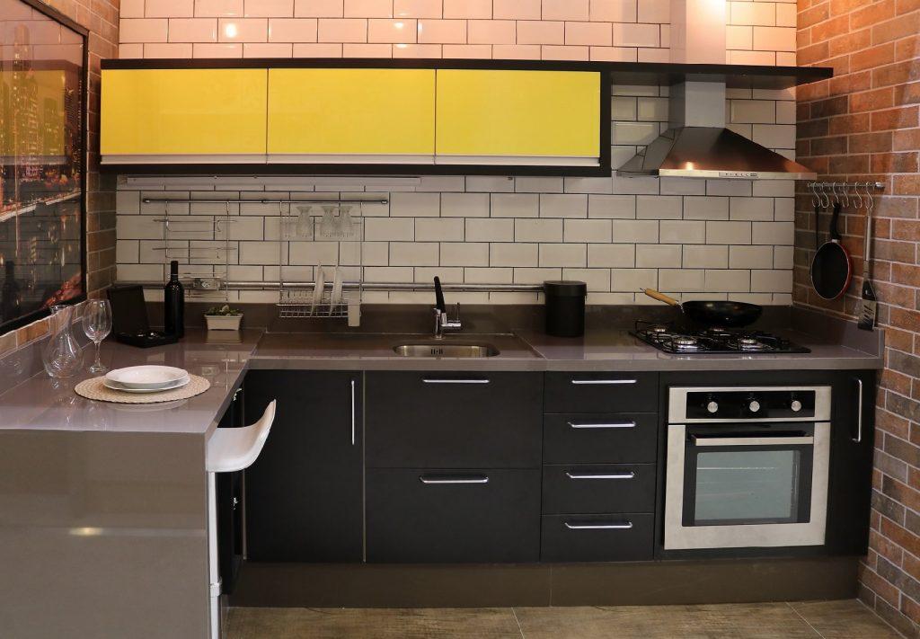 cozinha planejada preta 2