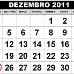 CALENDÁRIO DEZEMBRO 2011 FERIADOS E DATAS COMEMORATIVAS