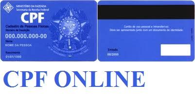 CPF ONLINE PELA INTERNET