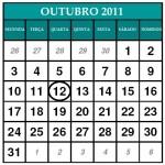 CALENDÁRIO OUTUBRO 2011 | FERIADOS E DATAS COMEMORATIVAS