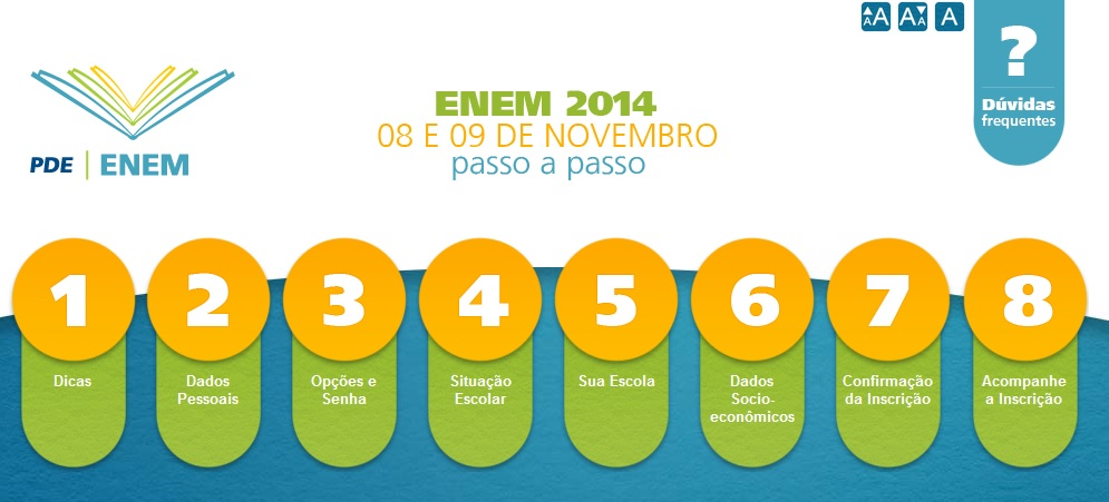 INSCRICAO ENEM 2014 INEP