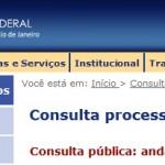 JUSTIÇA FEDERAL RJ CONSULTA DE PROCESSO