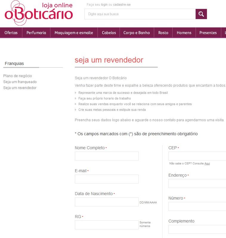 PEDIDOS REVENDEDOR BOTICARIO
