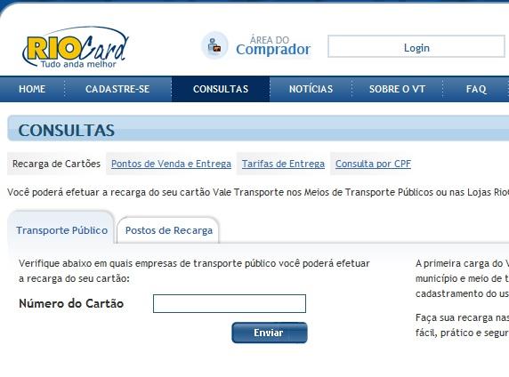 RIO CARD VT RJ SALDO E CONSULTA RECARGA