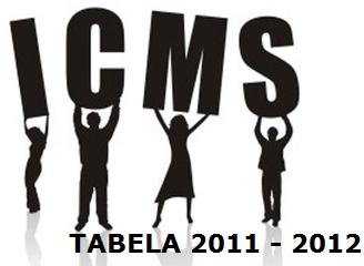 TABELA ICMS ESTADO 2011 2012