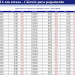 GPS INSS DOMÉSTICA 2014 – CÁLCULO PARA PAGAMENTO DA GPS EM ATRASO