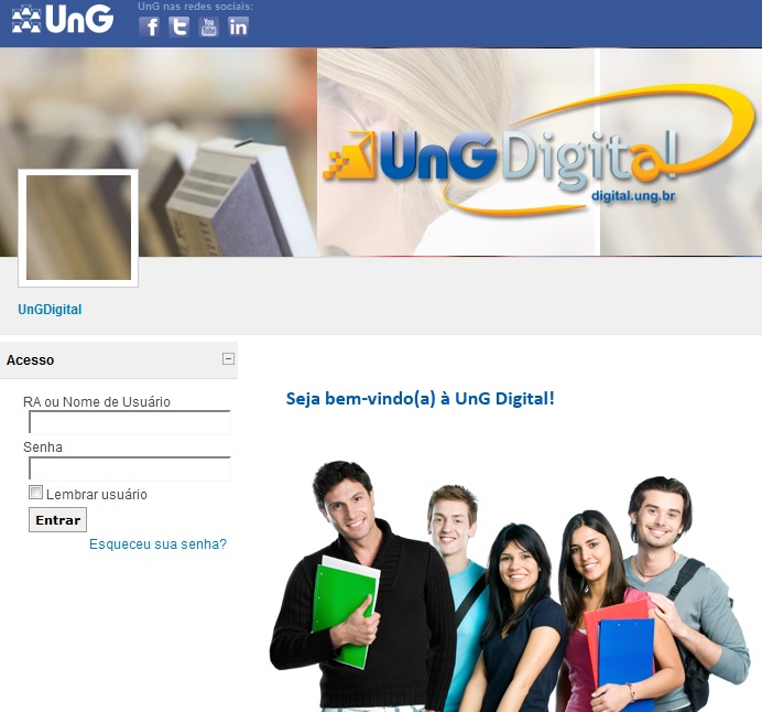 UNG DIGITAL PORTAL DO ALUNO