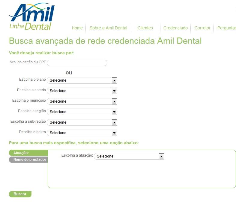 amil dental rede credenciada