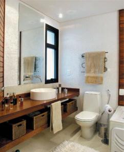 Banheiros pequenos planejados