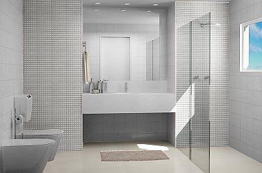 banheiros com pastilha de vidro