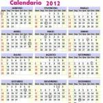 CALENDÁRIO 2012 FERIADOS NACIONAIS PARA IMPRIMIR