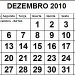 CALENDÁRIO DEZEMBRO 2010 FERIADOS E DATAS COMEMORATIVAS