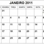 CALENDÁRIO JANEIRO 2011 FERIADOS E DATAS COMEMORATIVAS