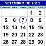 CALENDÁRIO SETEMBRO 2011 | FERIADOS E DATAS COMEMORATIVAS