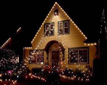 casas decoradas com luzes de natal