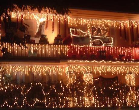 casas decoradas para o natal
