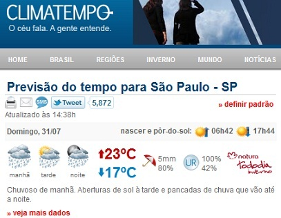 clima tempo sp capital agora previsao do tempo sp