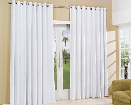 cortinas para sala com varao