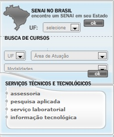 cursos Senai rj-mt-sp-df-rs-sc-salvador 2013 - 2014
