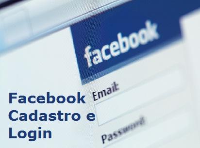 facebook cadastro e login