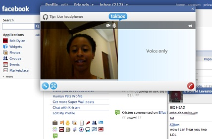 facebook video chamada