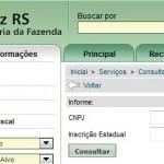 INSCRIÇÃO ESTADUAL RS – CONSULTA | www.sefaz.rs.gov.br