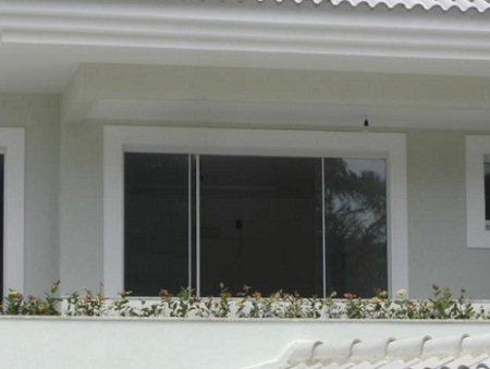 janelas de vidro temperado de correr