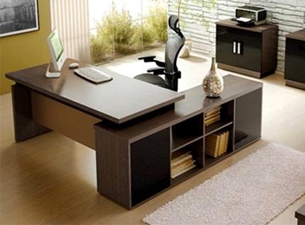mesas de escritorio em l modernas
