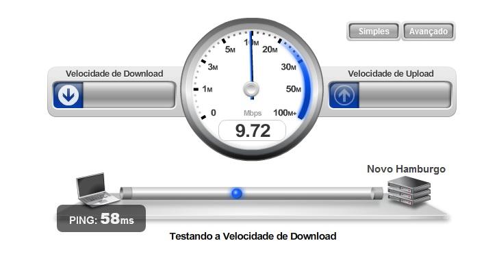 minha conexao de internet velocidade medidor