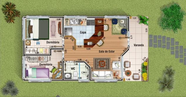 plantas casas pequenas modernas