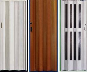portas sanfonadas de madeira