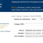 TABELA FIPE CARROS USADOS E NOVOS | www.fipe.org – Preço Médio de Veículos