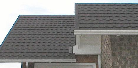 telhado de casas com telhas coloridas