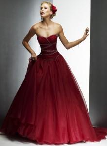 vestidos de noiva vermelho