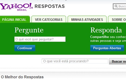 yahoo respostas e perguntas